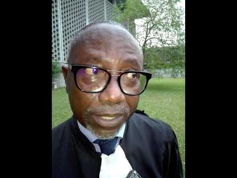 Le bâtonnier Abé Yao parle des perspectives apres la Semaine de l'avocat 2018 à Abidjan