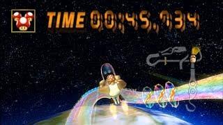 [MKWii - TAS] Rainbow Road Lap 1 - 00:45.734