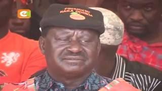Raila Odinga akamilisha ziara ya Narok