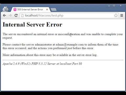 How to Fix wamp internal server error htaccess