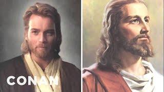 A Fan's Mom Mistook Ewan McGregor's Obi-Wan For Jesus - CONAN on TBS