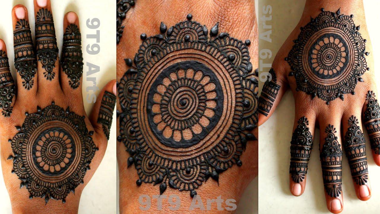Circle Mehndi Design For Hands Simple Gol Tikki Mehndi Designs Tutorial 2020 Easy Mandala Mehndi Youtube