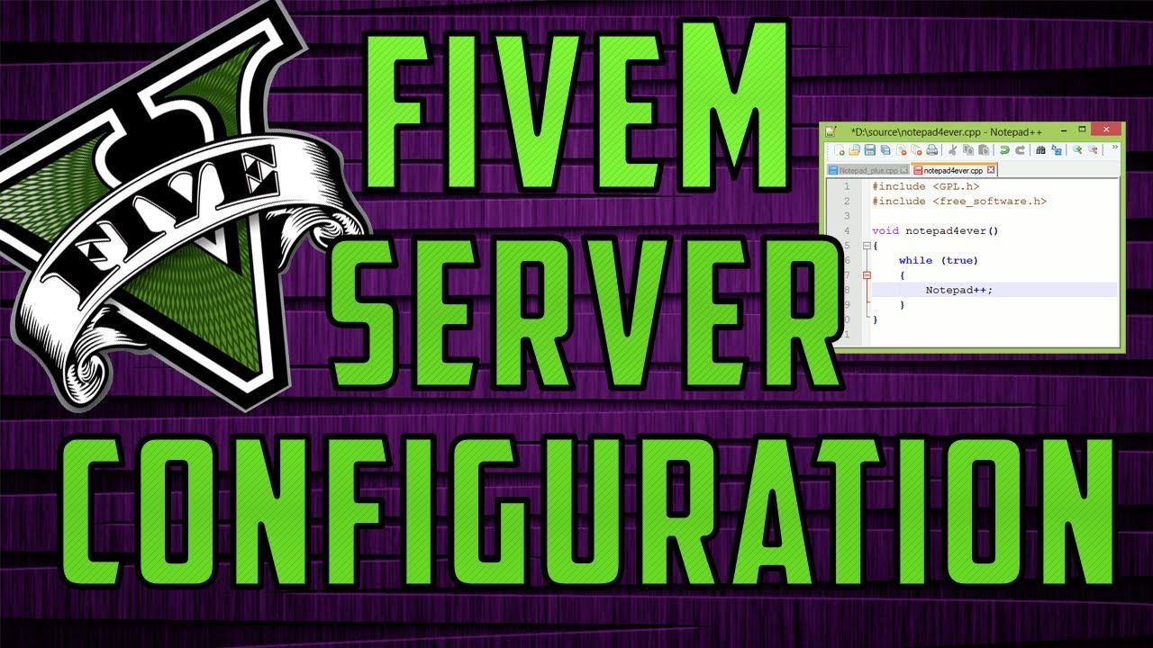How To CONFIGURE a FIVEM Server! [FXSERVER]
