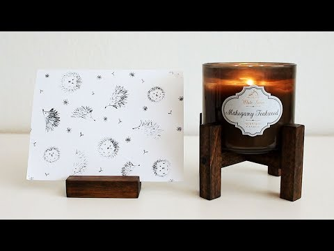 DIY Wooden Candle Stand and Card Holder