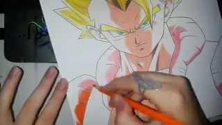 Speed Drawing - Gogeta SSJ (Dragon Ball Z)