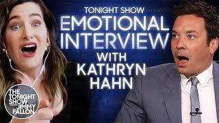 Эмоциональное интервью с Кэтрин Хан | Вечернее шоу с Джимми Фэллоном в главной роли