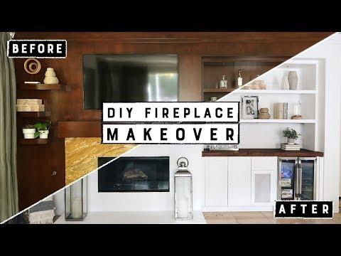DIY Fireplace Makeover!