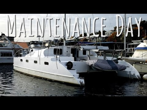 Building and Maintaining our Catamaran. Onboard Lifestyle ep