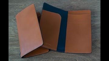 여권지갑 만들기 Making of Passport cover. leathercraft 가죽공예 Part 1/2