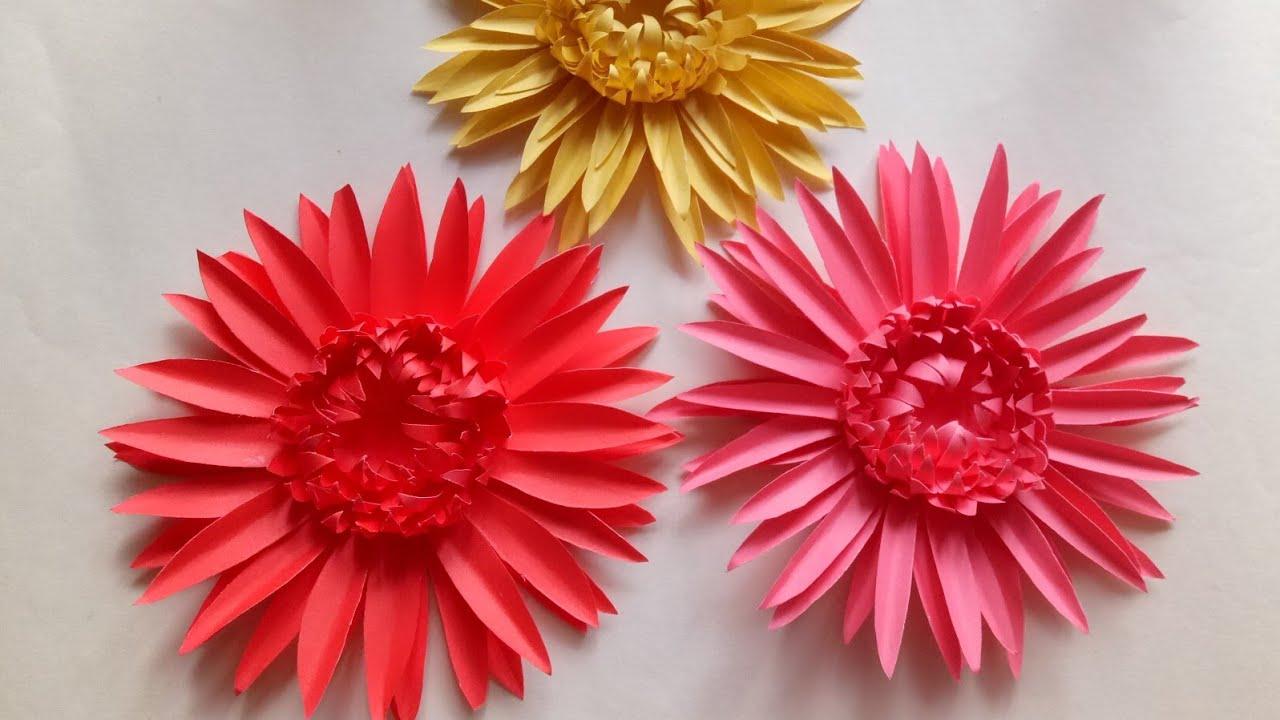 How To Make Paper Gerbera Daisies || DIY Paper Beautiful Gerbera ... | 720x1280