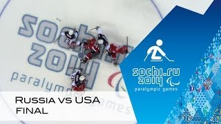 Russia vs USA gold medal game highlights | Ice sledge hockey | Sochi 2014 Paralympic Winter Games