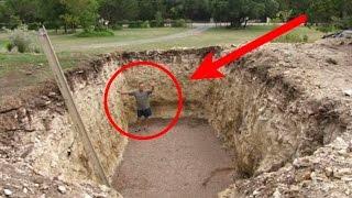 Awalnya dikira gila saat Pria ini menggali lubang besar, setelah itu semua orang malah takjub,!!!