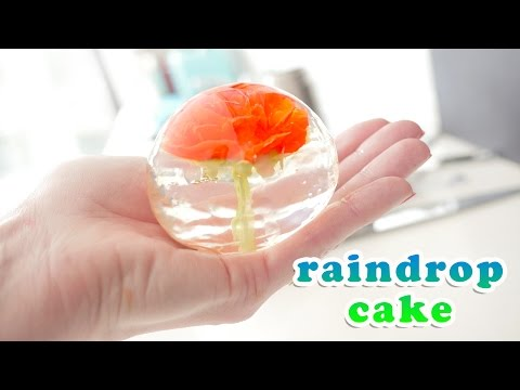 Flower Raindrop Cake Recipe Video  How To Cook That Ann Reardon