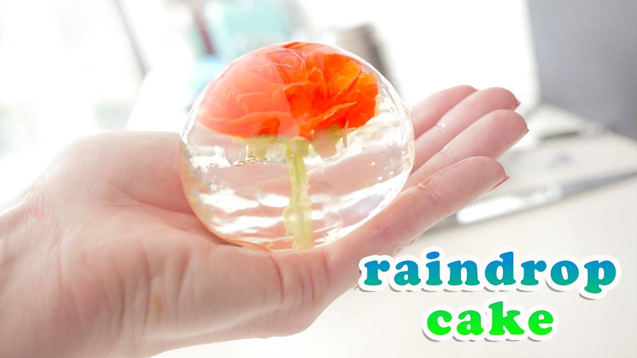 Flower Raindrop Cake Recipe Video How To Cook That Ann Reardon Youtube