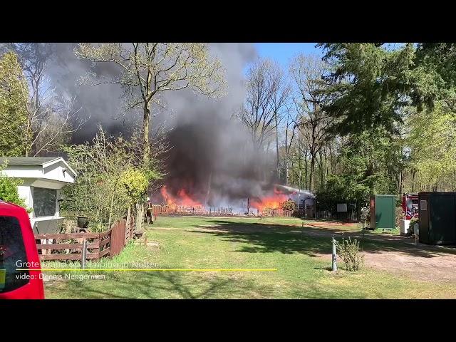 Grote brand op camping Nutter
