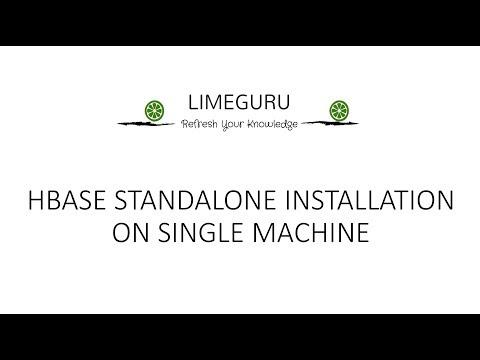 Hbase Standalone Installation On Single Machine - No Cluster