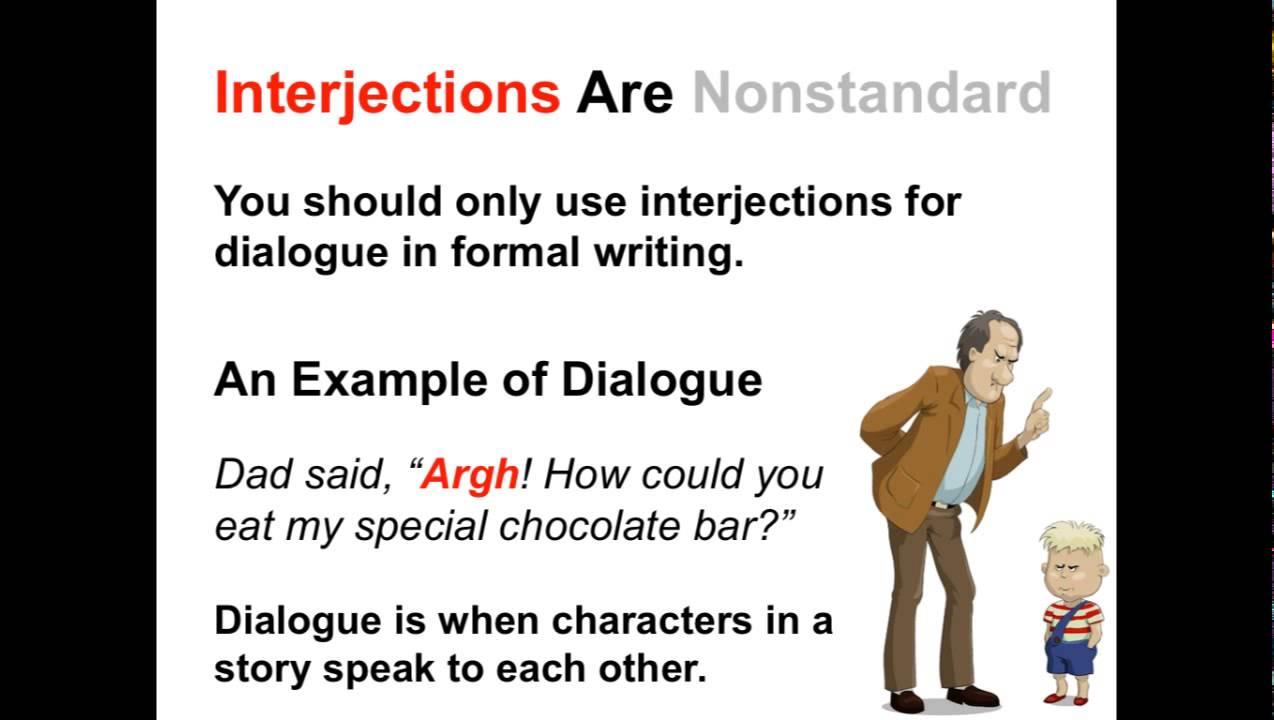 Interjections Parts Of Speech App Youtube