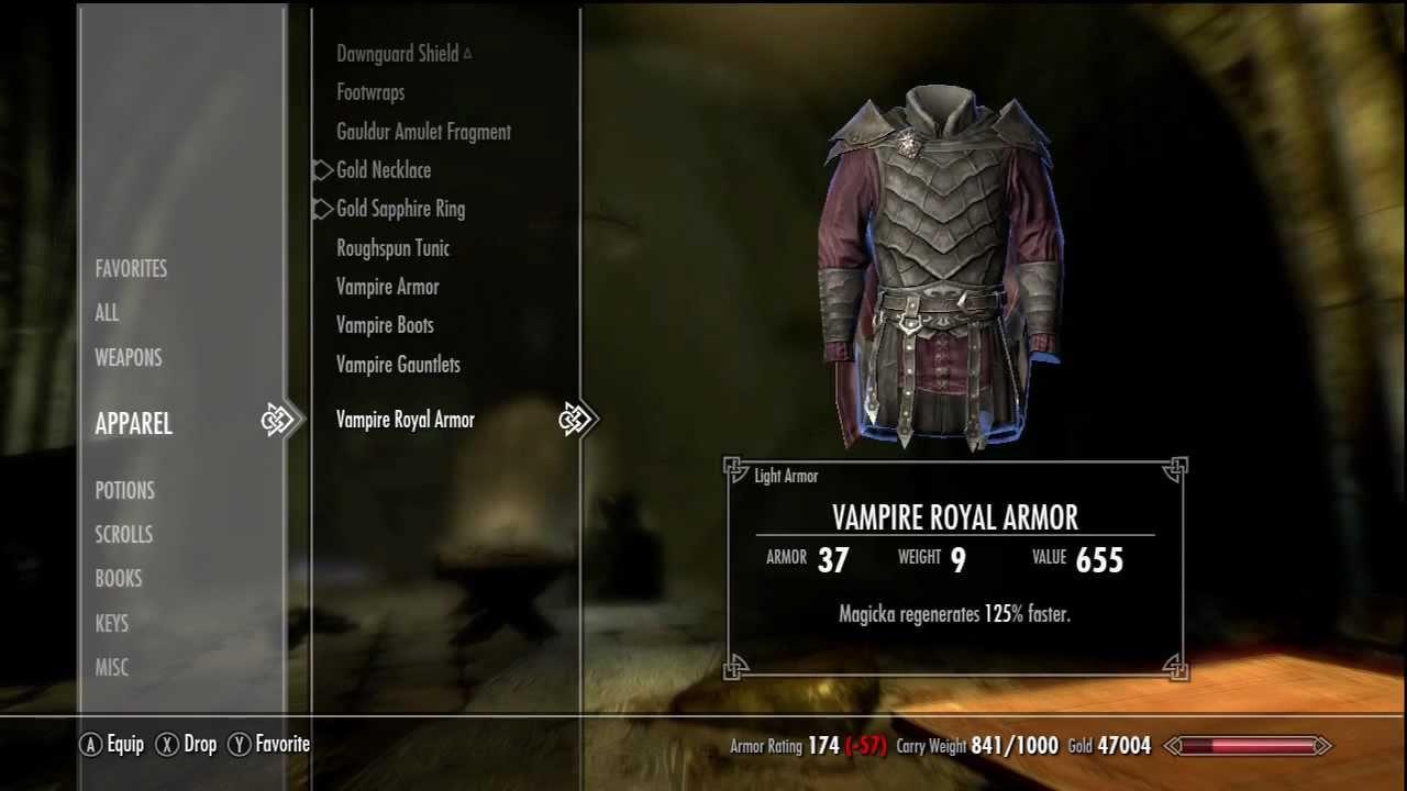 Skyrim Dawnguard Dlc Where To Find Vampire Royal Armor Youtube