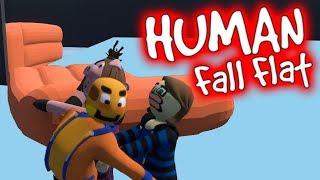 Vier Youtuber spielen mit einem Gummiboot   Human Fall Flat