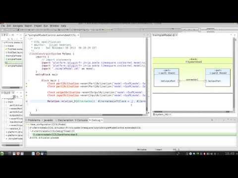 CCSL/TimeSquare tutorial: give control semantics to a structural model