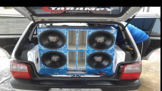 Alto falantes Spyder Kaos 550 RMS [Construção do som, Uno Fire] BRUNO SOM - SC