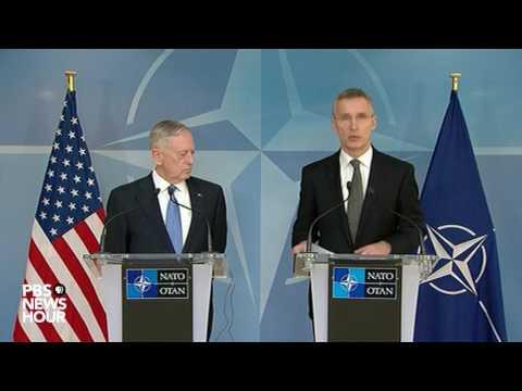 Defense Sec. Mattis speaks to NATO allies