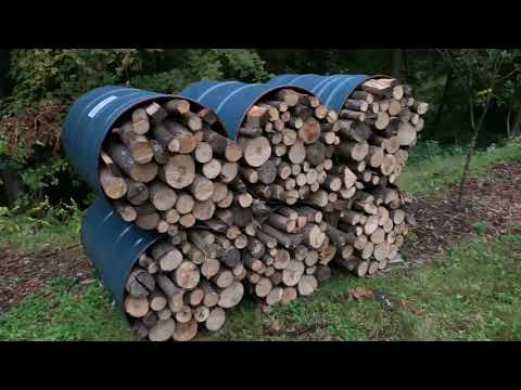 Best DIY Firewood Rack Made from 55 Gallon Barrels Indoor & Outdoor 6 Pack