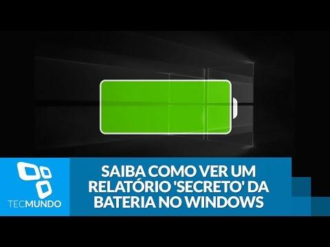 Saiba Como Ver Um Relatório Secreto Da Bateria No Windows - TecMundo