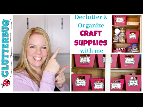 Declutter and Organize Craft Supplies with Me - Dollar Tree Organizing!