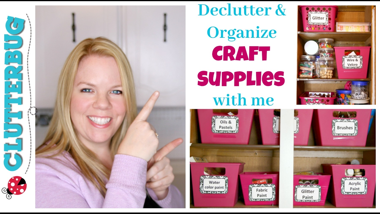 Declutter And Organize Craft Supplies With Me Dollar Tree