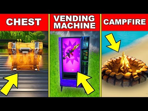 Search A CHEST, Use A VENDING MACHINE And A CAMPFIRE In A Single Match– FORTNITE WEEK 7 CHALLENGES