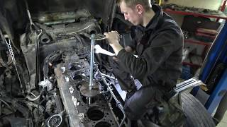 Ремонт двигателя Scania 124 L демонтаж гильз часть 1