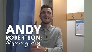 Robertson's first day at Liverpool FC | Signing day vlog series