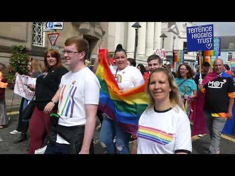 2019 Perthshire Pride Parade And March Perth Scotland