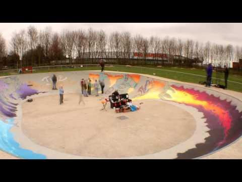 Belmont Skatepark Durham - Graffiti Project
