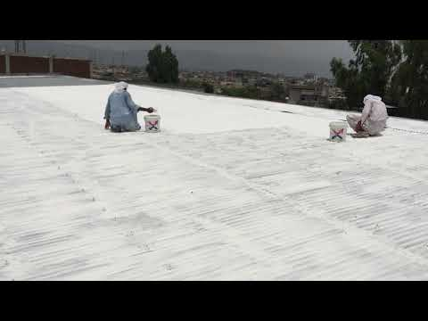"""Industrial Steel/GI Roof Heat Proofing & Waterproofing With """"isothane"""" Available At All Pakistan"""
