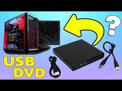 Как подключить Внешний USB DVD дисковод к компьютеру