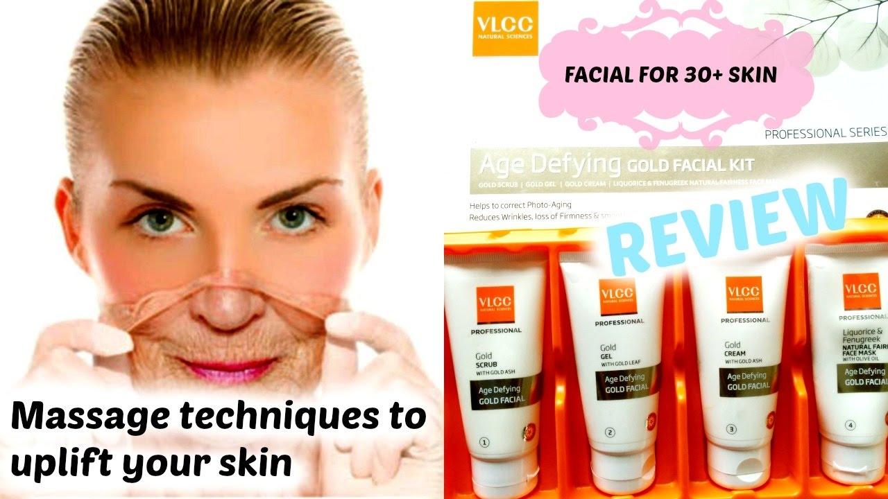 Face massage technique mature skin