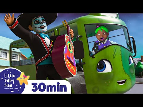 The Wheels on The Bus - Halloween | Nursery Rhymes & Kids Songs - ABCs and 123s | Little Baby Bum