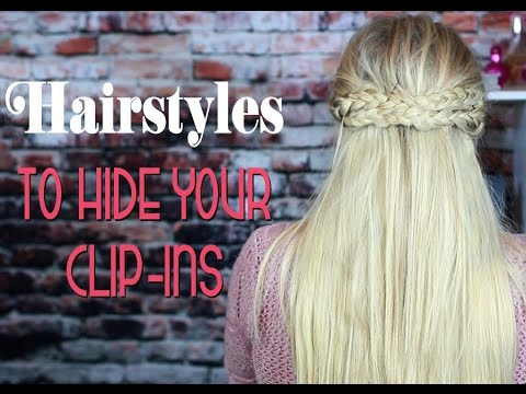 clip in hair extensions styles easy half up half hairstyles styling clip in hair 8208