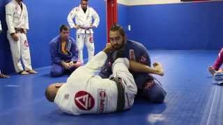 Triangle from guard when you have collar grip
