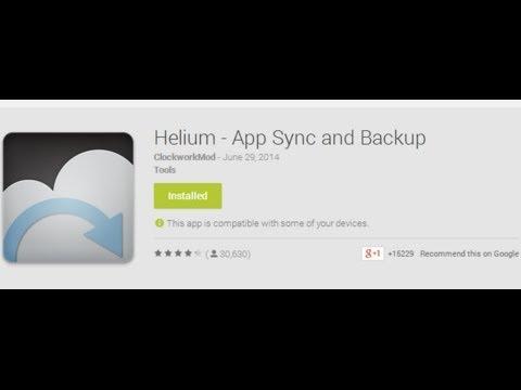 helium restore not working