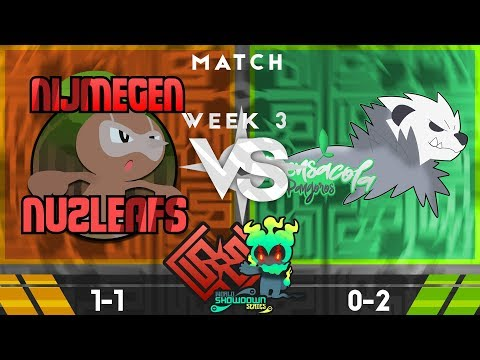 World Showdown Series S3W2: Nijmegen Nuzleafs vs Pensacola Pangoros