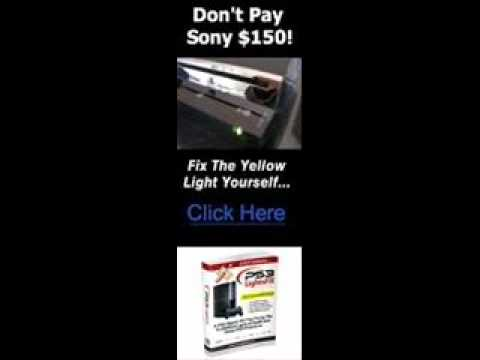 how to fix the yellow light on the ps3