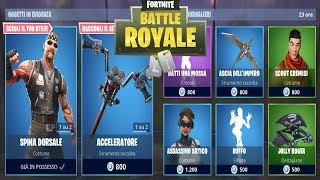 "FORTNITE ""SHOP"" 01/09 NEW BALL A MOSSA - SKIN BIKER - BUFFO - ASCIA OF IMPERO"