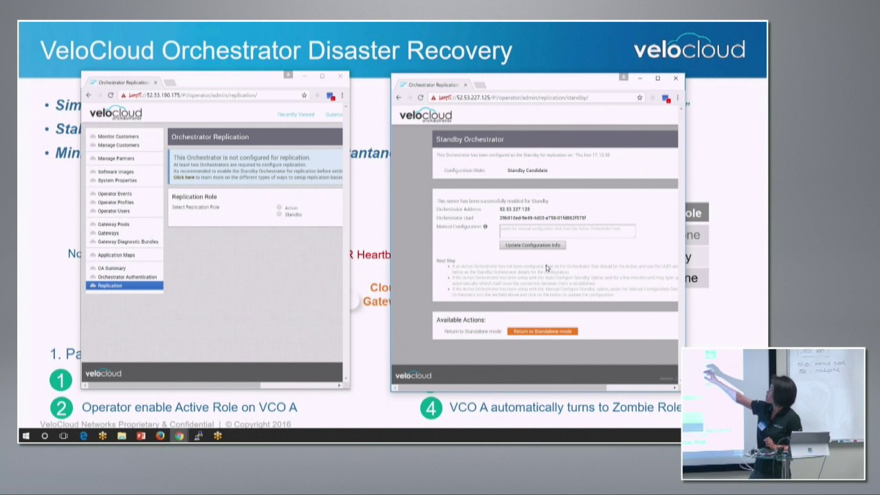 VeloCloud On-Premises Orchestrator Demo with Fan Gu
