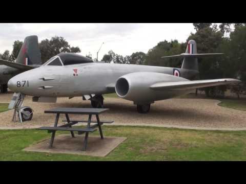 Retired Australian Warplanes including Meteor,Sabre & Mirage Fighter Jets