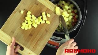 Суп грибной в мультиварке REDMOND RMC-M4502