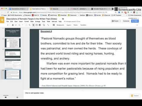 Nomadic People of Era 2 (Document 4): The Human Drama p. 85