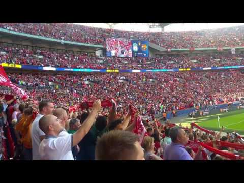 Liverpool vs Barcelona 2016 You'll never walk alone Wembley